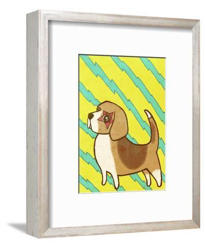 Beagle-My Zoetrope-Framed Art Print