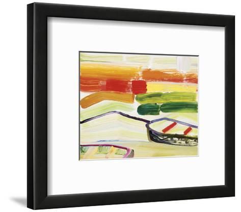 Boat on the Sea?s Edge-Joan Davis-Framed Art Print