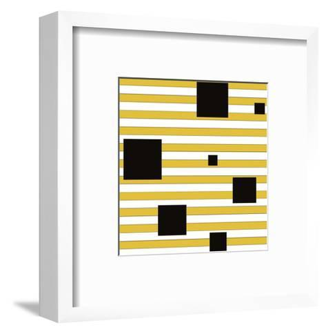 Black Block on Stripe-Dan Bleier-Framed Art Print