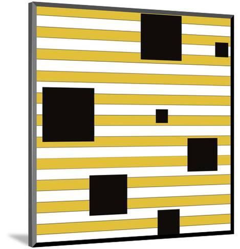 Black Block on Stripe-Dan Bleier-Mounted Art Print