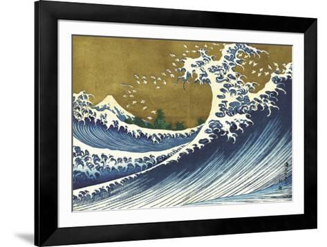 Big Wave (from 100 views of Mt. Fuji)-Katsushika Hokusai-Framed Art Print