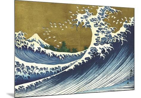 Big Wave (from 100 views of Mt. Fuji)-Katsushika Hokusai-Mounted Art Print