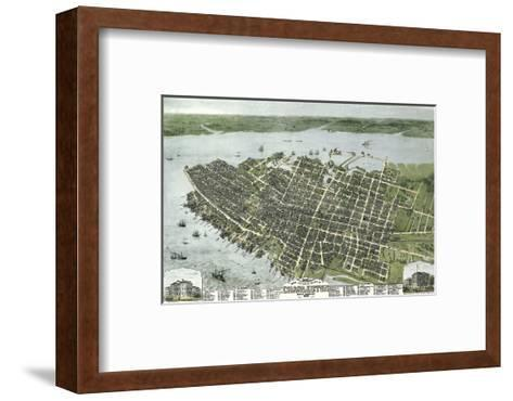 Bird?s Eye View of the City of Charleston, South Carolina, 1872-C^N^ Drie-Framed Art Print