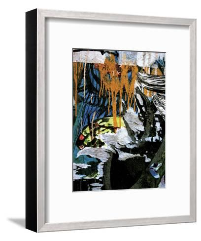 Blue Orange Layers 3-Jenny Kraft-Framed Art Print