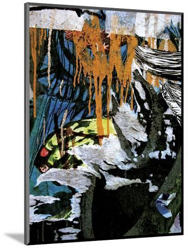 Blue Orange Layers 3-Jenny Kraft-Mounted Art Print