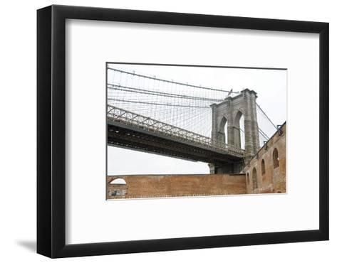 Brooklyn Bridge (brick walls)-Erin Clark-Framed Art Print
