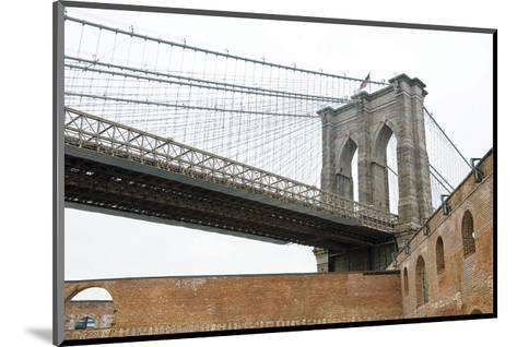 Brooklyn Bridge (brick walls)-Erin Clark-Mounted Art Print
