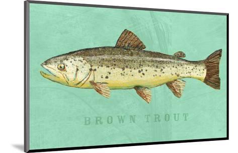 Brown Trout-John W^ Golden-Mounted Art Print