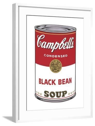 Campbell's Soup I: Black Bean, 1968-Andy Warhol-Framed Art Print