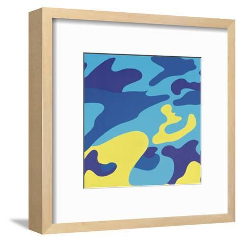 Camouflage, 1987 (blue, yellow)-Andy Warhol-Framed Art Print