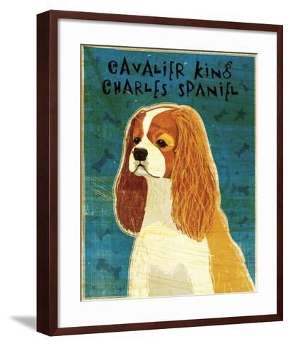 Cavalier King Charles (Blenheim)-John W^ Golden-Framed Art Print
