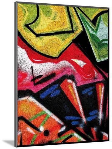Colorful Graffiti (detail-Jenny Kraft-Mounted Art Print