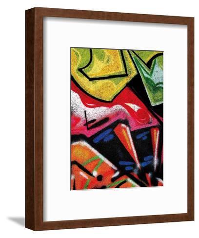 Colorful Graffiti (detail-Jenny Kraft-Framed Art Print