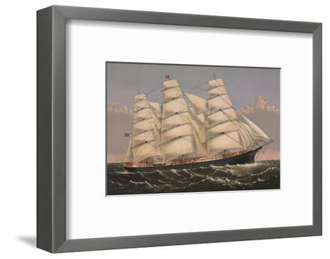 Clipper Ship ?Three Brothers?, ca. 1875-Currier & Ives-Framed Art Print