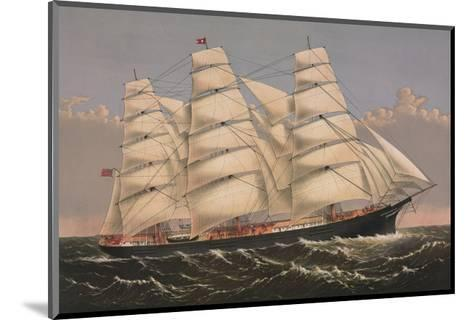 Clipper Ship ?Three Brothers?, ca. 1875-Currier & Ives-Mounted Art Print