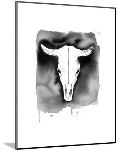 Cow Skull-Jessica Durrant-Mounted Art Print