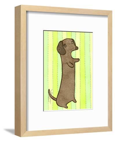 Dachshund-My Zoetrope-Framed Art Print