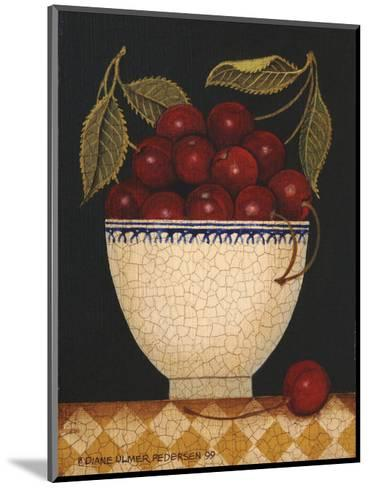 Cup O Cherries-Diane Ulmer Pedersen-Mounted Art Print