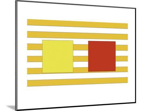 Double Block on Stripe-Dan Bleier-Mounted Art Print