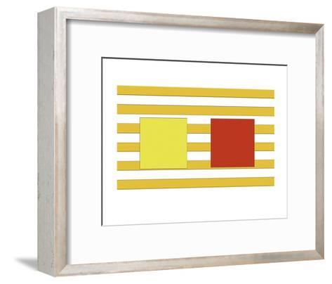 Double Block on Stripe-Dan Bleier-Framed Art Print