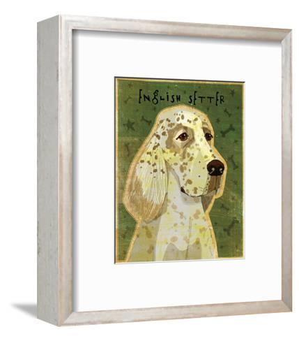English Setter-John W^ Golden-Framed Art Print