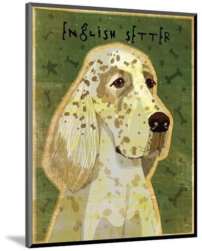 English Setter-John W^ Golden-Mounted Art Print