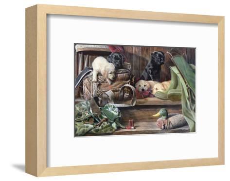 Dog Tired 2-Kevin Daniel-Framed Art Print