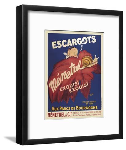 Escargots Menetrel-Vintage Posters-Framed Art Print
