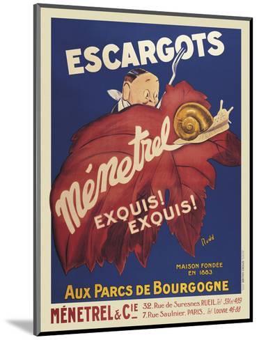 Escargots Menetrel-Vintage Posters-Mounted Art Print