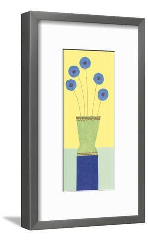 Pom-Pom Cornflowers-Annabel Hewitt-Framed Art Print