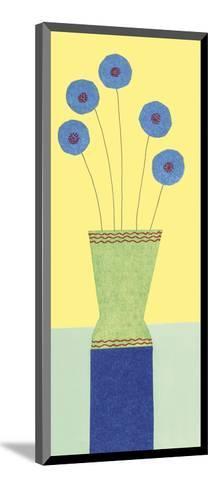 Pom-Pom Cornflowers-Annabel Hewitt-Mounted Art Print