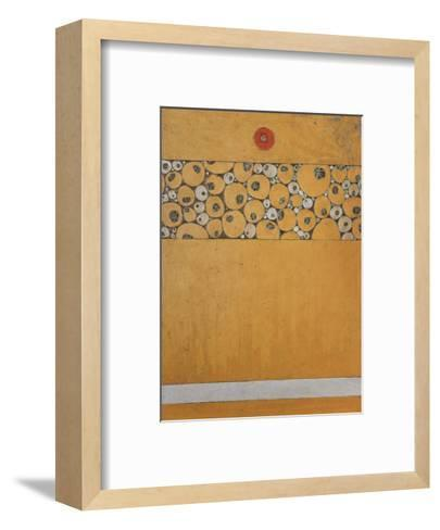 Poppy Bud Icon-Karen Tusinski-Framed Art Print
