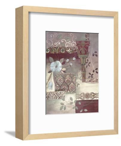 Plum Paisley-Muriel Verger-Framed Art Print