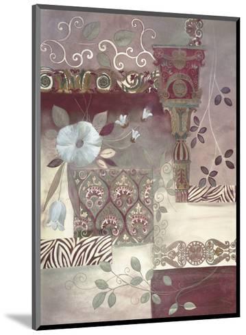 Plum Paisley-Muriel Verger-Mounted Art Print