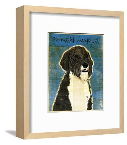 Portuguese Water Dog-John W^ Golden-Framed Art Print