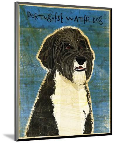 Portuguese Water Dog-John W^ Golden-Mounted Art Print