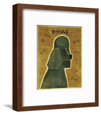 Poodle (black)-John W^ Golden-Framed Art Print
