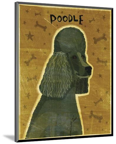 Poodle (black)-John W^ Golden-Mounted Art Print