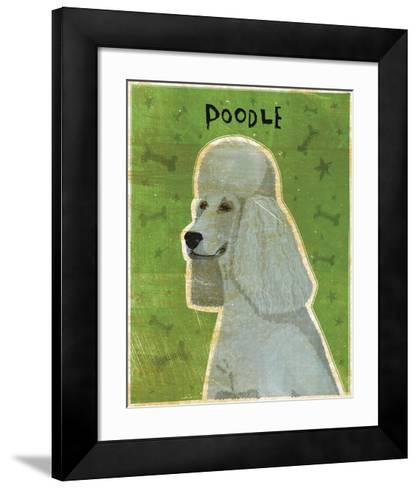 Poodle (grey)-John W^ Golden-Framed Art Print