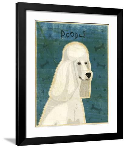 Poodle (white)-John W^ Golden-Framed Art Print