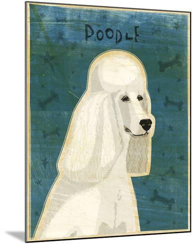 Poodle (white)-John W^ Golden-Mounted Art Print