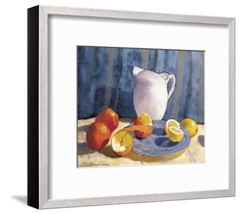 Pitcher with Tangelos and Lemons-Tony Saladino-Framed Art Print