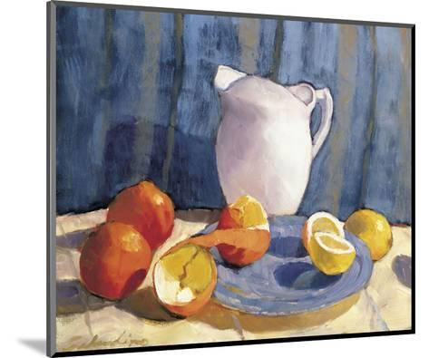 Pitcher with Tangelos and Lemons-Tony Saladino-Mounted Art Print