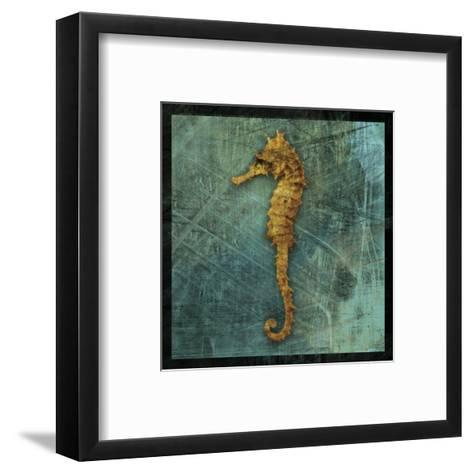 Seahorse-John W^ Golden-Framed Art Print