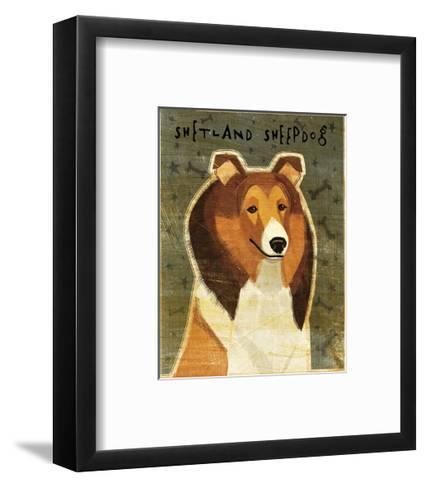 Shetland Sheepdog-John W^ Golden-Framed Art Print