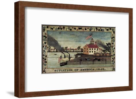 Situation of America, 1848-Unknown Artist-Framed Art Print