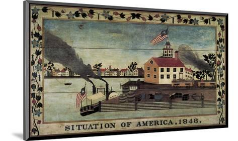Situation of America, 1848-Unknown Artist-Mounted Art Print