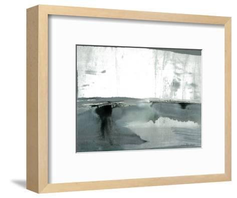Silver Silence: Watercolor and Mist-Joan Davis-Framed Art Print