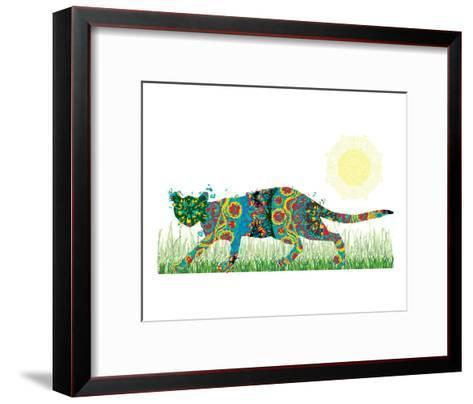 Sneaky Cat-Teofilo Olivieri-Framed Art Print