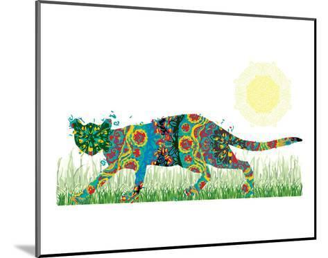 Sneaky Cat-Teofilo Olivieri-Mounted Art Print